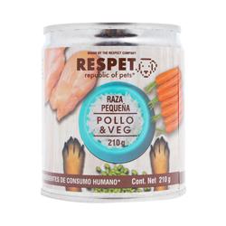 Alimento Para Perro Respet Pollo & Vegetales 210 g
