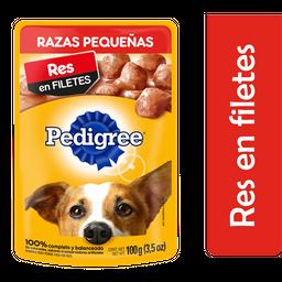 Alimento Para Perro Pedigree Razas Pequeñas Res en Filetes 100 g