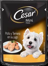 Alimento Para Perro Cesar Mini Fillets Pollo y Ternera 75 g