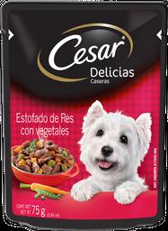 Alimento Para Perro Cesar Estofado de Res 75 g