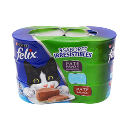 Alimento Para Gato Felix Varios Sabores Lata 156 g x 6 U