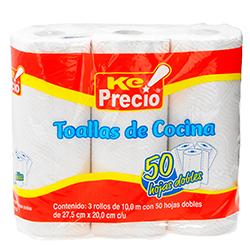 Servitoalla De Cocina 3 Rollos 50 Hd 1 U