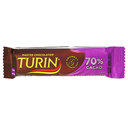 Chocolate Turin Amargo 70% Cacao 18 g