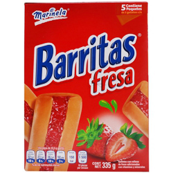 Barritas Marinela Fresa Caja 335 g