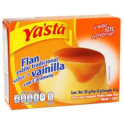 Flan Vainilla Con Caramelo Ya Sta 85 g