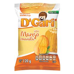 Gelatina de Agua DGari Mango Manila en Polvo 120 g