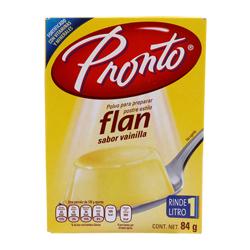 Flan Pronto en Polvo Sabor Vainilla 84 g