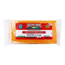 Queso Cheddar Joseph Farms Suave 226 g