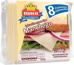 Queso tipo manchego Burr 8 Reb 144 g