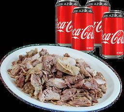 Envío Gratis: Un Kilo de Carnitas + 4 Coca-Cola Sin Azúcar