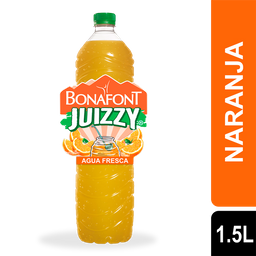 Agua Bonafont Juizzy Naranja Botella 1.5 L