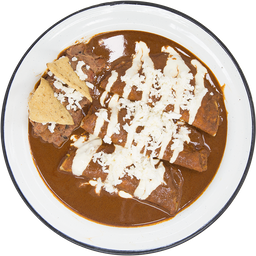 Enchiladas Mole Vegetarianas