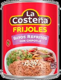 Frijoles La Costeña Bayos Refritos con Chipotle 440 g