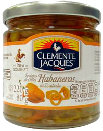 Chiles Clemente Jacques Habaneros en Escabeche 220 g