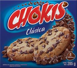 Galletas Chokis Clásica Con Chispas Sabor Chocolate 5 Paketines