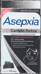 Parches Anti Imperfecciones Asepxia Carbón Detox 12 U