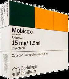 Mobicox Solución Inyectable 3 X 1.5 mL (15 mg/1.5 mL)