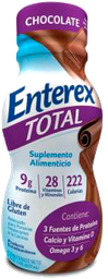 Suplemento Alimenticio Enterex Total Sabor Chocolate 237 mL