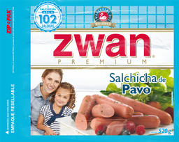 Salchicha de Pavo Zwan Premium 520 g