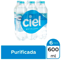 Agua Ciel 6 Botellas De 600 mL