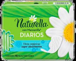 Pantiprotectores Naturella Con Manzanilla 40 U