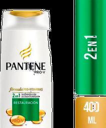 Shampoo Pantene Con Acondicionador Restauración 400 mL