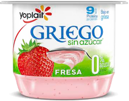 Yoghurt Yoplait griego Sin Azúcar Con Fresa 145 g