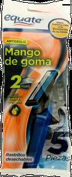 Rastrillos Desechables Equate Con Mango De goma 5 U