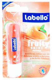 Humectante Labial Labello Fruity Shine Durazno 48 g