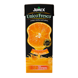 Jugo De Naranja Jumex Unico Fresco Sin Pulpa 200 mL