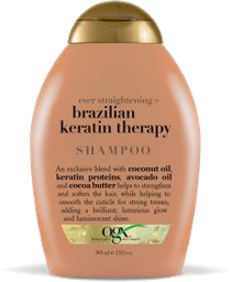 Shampoo Ogx Ever Straight Brazilian Keratin Therapy 385 mL