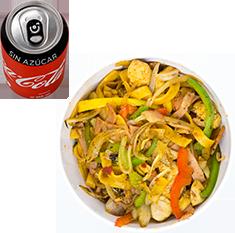 Envío Gratis: Wok Completo + Rollo y Coca-Cola Sin Azúcar