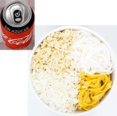 Envío Gratis: Wok Sencillo + Rollo y Coca-Cola Sin Azúcar