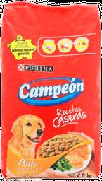 Alimento Para Perro Campeón Recetas Caseras Pollo Adulto 4 Kg