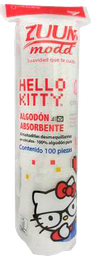 Almohadillas Desmaquillantes Zuum Hello Kitty De Algodon 100 U