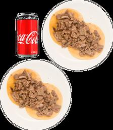 Envío Gratis 2 Órdenes Bistec +  Coca-Cola Sin Azúcar