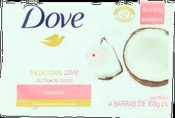 Jabón Dove Leche de Coco X 4