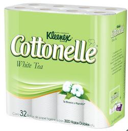 Papel Higienico Cottonelle White Tea 300 Hojas 32 U.