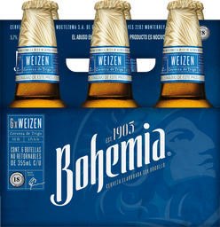 Cerveza Bohemia Premium Trigo Weizen 355 mL x 6