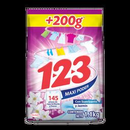 Detergente en Polvo  1.2.3. Suavizante y Jazmín 1 Kg