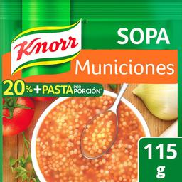 Pasta Knorr Sopa Municiones  115 g