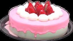 Pastel Malteada de Fresas