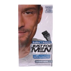 Tinte Just For Men Para Barba y Bigote Castaño Medio B-30