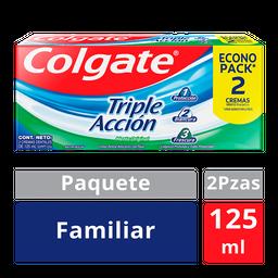 Pasta Dental Colgate Triple Acción Familiar 2 U