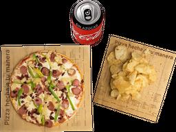Envío Gratis: Pizza + Papas y Coca-Cola Sin Azúcar
