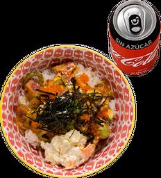 Envío Gratis: Spicy Maguro Don + Coca-Cola Sin Azúcar