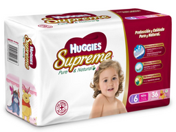 Huggies Supreme Pañales P Niña Etapa 6