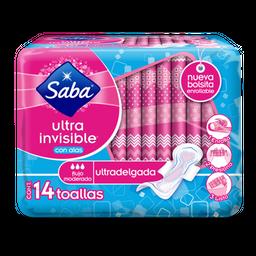 Toalla Femeninas Saba Ultra invisible Con Alas 14 U