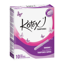 Kotex Tampones Free and soft super absorbentes