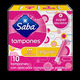 Tampones Saba Regulares 10 U
